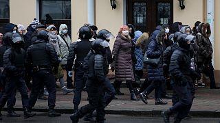 سرکوب مخالفان در مینسک