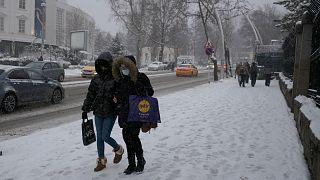 Καραμπόλα λόγω χιονιού στην Τουρκία