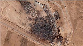 ویرانیهای باقی مانده از آتشسوزی بزرگ در مرز ایران و افغانستان