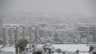 Nieve en Grecia