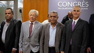 Membres du nouvel exécutif calédonien élus le 17 février 2021 à Nouméa.