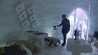 Una cafetería dentro de un iglú, la última atracción turística de Cachemira