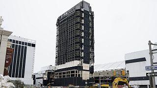 L'ancien Trump Plaza à Atlantic City, le 12 février 2021