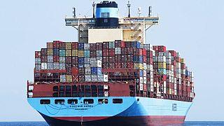 Cargueiro Gjertrud Maersk - ARQUIVO