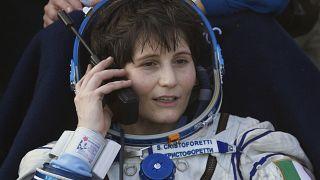 صورة أرشيف لرائدة الفضاء الإيطالية سامانتا كريستوفوريتي التي ستتولى قيادة محطة الفضاء الدولية. 11/06/2015