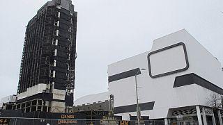 Gebäude des ehemaligen Trump Plaza Casino in Atlantic City, N.J., am Tag vor der Sprengung, 16.02.2021