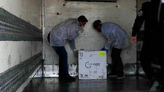 Gazze'ye gönderilen Sputnik V aşıları
