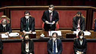 İtalya'da Mario Draghi Başbakanlığında kurulan yeni hükümet çarşamba günü Senato'da güvenoyu arayacak.