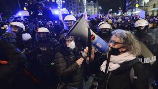 Marta Lempart, a key leader of the Polish Women's Strike, in Warsaw, Poland on Jan.28.2021.