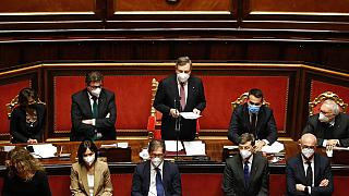 L'ampia maggioranza del governo Draghi al Senato