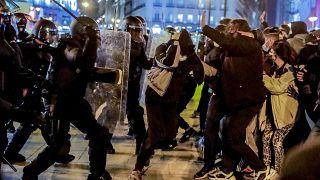 مظاهرات ضد حبس مغني الراب الإسباني بابلو هاسل
