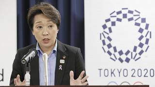 Japan's Olympics Minister Seiko Hashimoto speaks during a press conference at the cabinet office in Tokyo, on Sept. 19, 2019