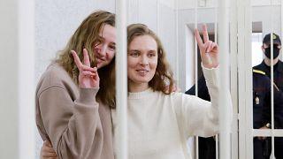 Jornalistas condenadas à prisão na Bielorrússia por filmarem protestos