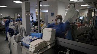 Virus Outbreak Greece ICU