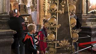 The Sedlec Ossuary at the church of All Saints in the Czech Republic
