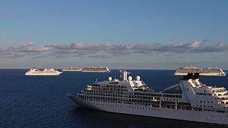 Cruceros varados frente a las costas de Chipre