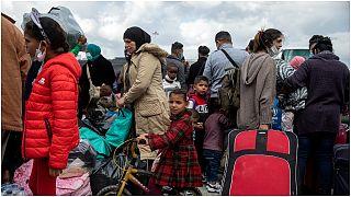 لاجئون قرب ميناء لافريو ، جنوب أثينا، 1 نوفمبر / تشرين الثاني 2020