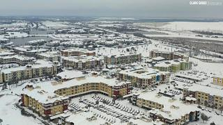 Aerial footage shows snow in hard-hit state Texas