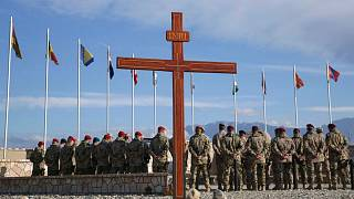 مراسم گرامیداشت سربازان کشته شده ناتو در افغانستان در سال ۲۰۱۴