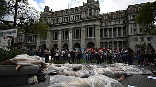 Arjantin'de kadına şiddet protestosu