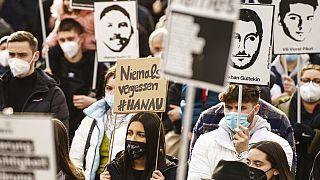 Erinnern an die Opfer des rassistischen Anschlags von Hanau - ein Jahr danach