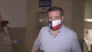 Ted Cruz en el aeropuerto de Cancún, México