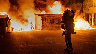 سومین شب ناآرامیها در اسپانیا