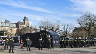 Riot police were deployed in Amsterdam and across the Netherlands following violence last month