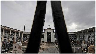مقبرة فو فيكيو ، في فو إيوجانيو ، إيطاليا ، الأربعاء 10 فبراير 2021