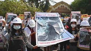 کودتا در میانمار؛ مرگ زن جوان آتش اعتراضات را تیزتر کرد