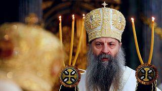 Porfirij pátriárka a Szent Száva-székesegyházban