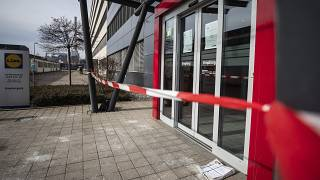 Three people were injured after a parcel exploded at the Lidl supermarket headquarters in Neckarsulm on Wednesday.
