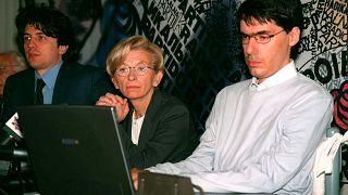 Da destra, Luca Coscioni con Emma Bonino e Marco Cappato