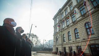 A magyar kormány tagjainak jelenlétében adták át a Nemzetközi Beruházási Bank székházát Budapesten