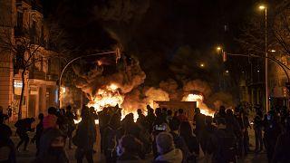 Barcelona'da Hasel protestoları