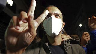 El periodista Khaled Drareni tras su liberación
