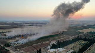صورة ارشيفية لقصف في ريف إدلب