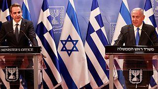 کنفرانس خبری نخستوزیران اسرائیل و یونان در بیتالمقدس/ ۸فوریه ۲۰۲۱