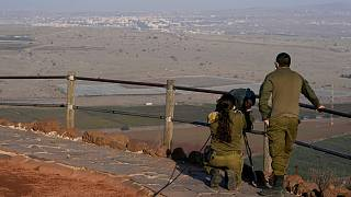 جنديان إٍسرائيليان في الطرف المحتل من الجولان