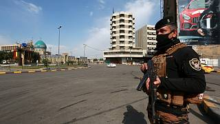 Iraklı bir güvenlik görevlisi
