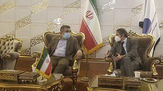 El director general de la Organización Internacional de la Energía Atómica, Rafael Grossi, en Teherán