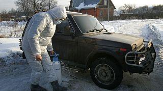 Kampf gegen Vogelgrippe in Russland (2007)