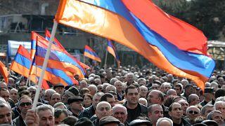 Ermenistan'da gösteri
