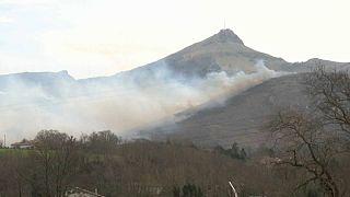 Incendio forestal en Navarra