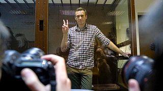 الکسی ناوالنی در دادگاه