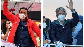 Los candidatos Arauz y Lasso a las elecciones presidenciales en Ecuador