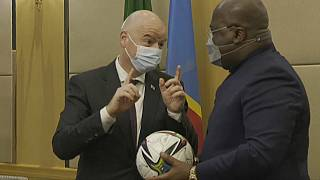 FIFA President launches football school championship in DRC