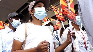 Myanmar protest sunday