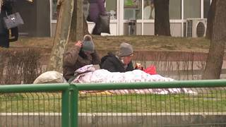 FILE: homeless people in Bucharest