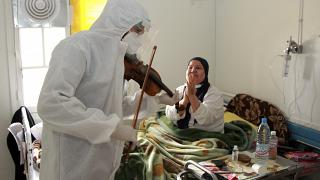 Auf der Corona-Station des Hedi Chaker Krankenhauses in Sfax